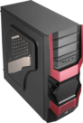 SPARTAN-Cyclops-Midi-Tower-Gaming-Case-Black