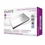 """Ewent EW7041 behuizing voor opslagstations 2.5"""" Aluminium, Zwart Stroomvoorziening via USB_"""