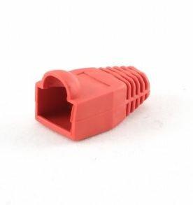 *Tule/huls voor RJ45 stekker, rood