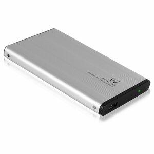 """Ewent EW7041 behuizing voor opslagstations 2.5"""" Aluminium, Zwart Stroomvoorziening via USB"""