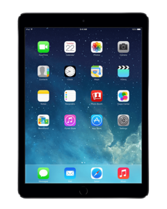IPAD AIR ZWART 16GB WIFI ONLY (RFS)